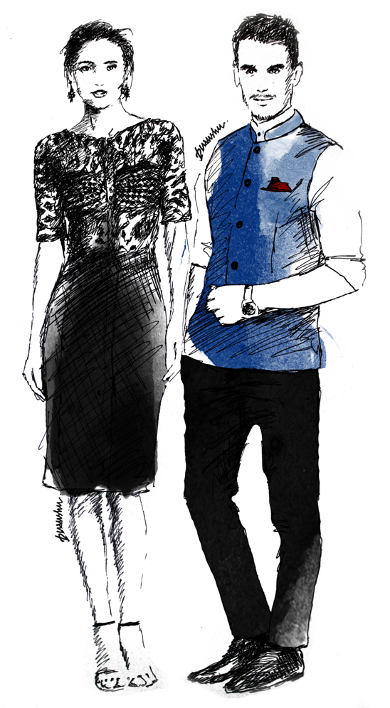 New Year Party Style Guide Formal fashion illustration by purushu arie