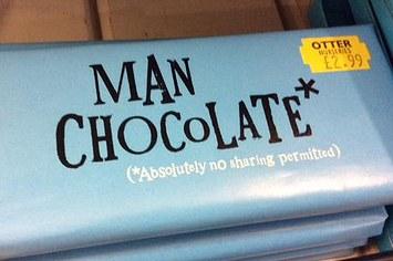Man chocolate fragile masculinity