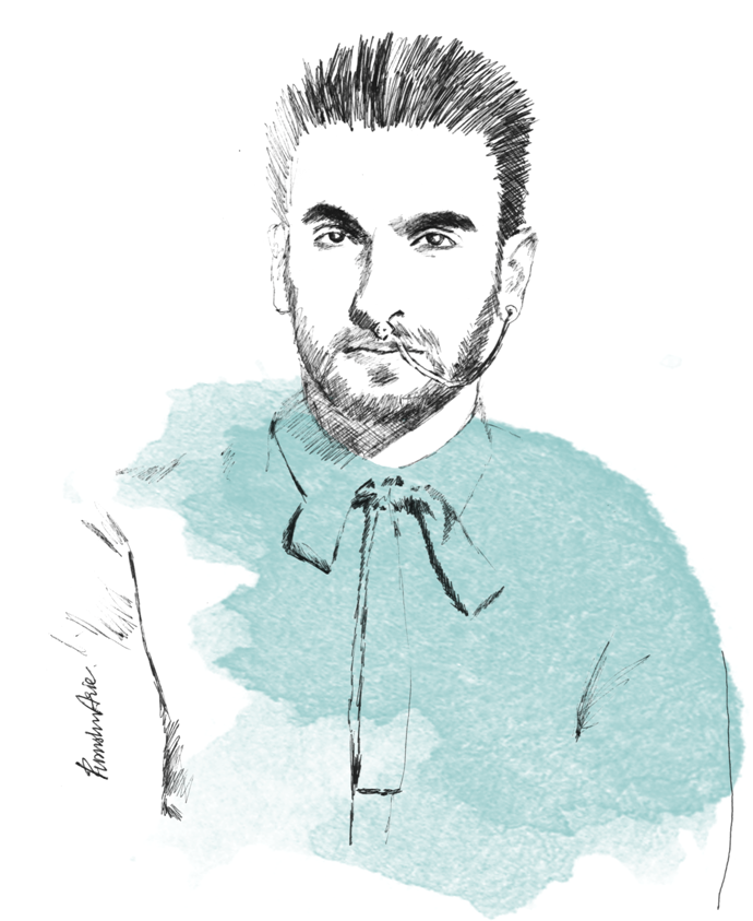 Fashion Illustration - Ranveer Singh for L'Officiel India February 2016