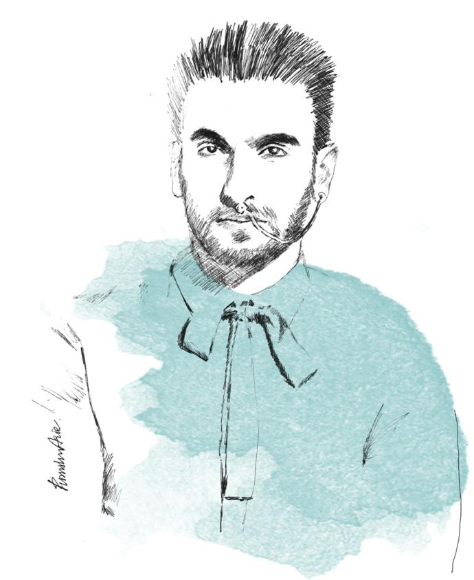 Fashion Illustration - Ranveer Singh for L'Officiel India February 2016