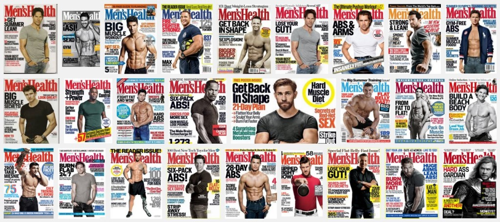 Men's Health body image issues in men
