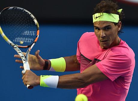 Rafael Nadal wearing pink