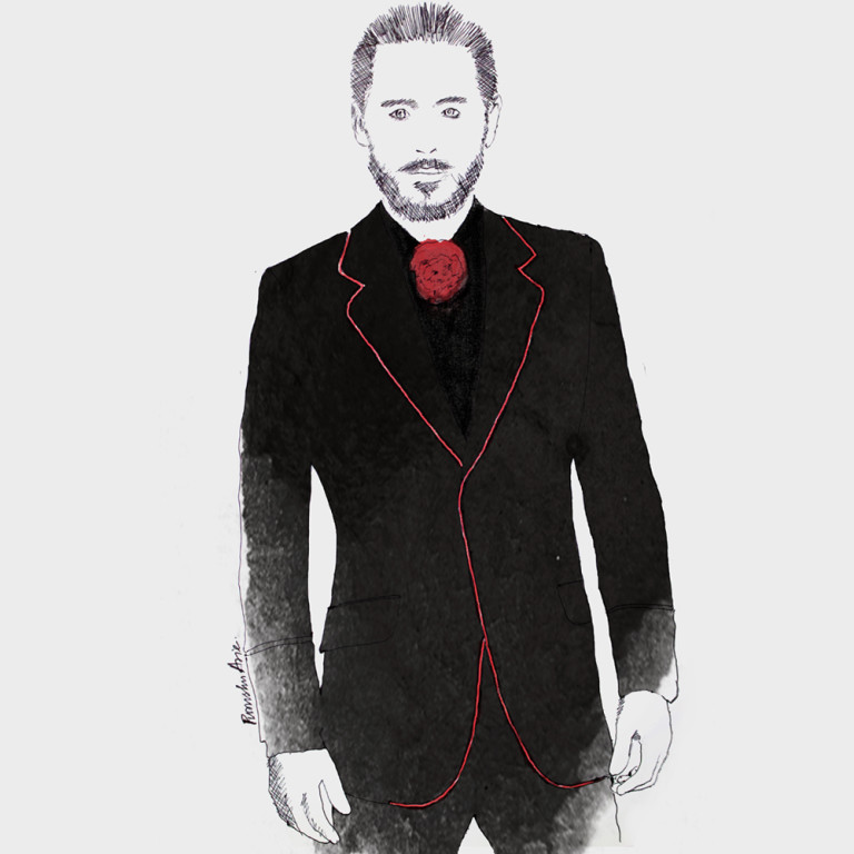 Fashion Illustration - Jared Leto Oscars 2016