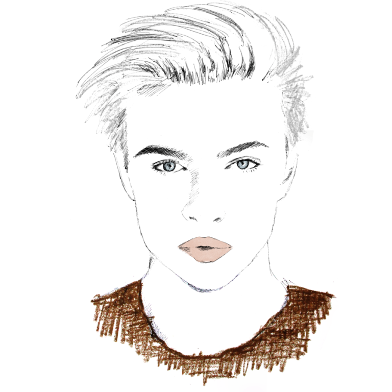 Fashion Illustration - Lucky Blue Smith