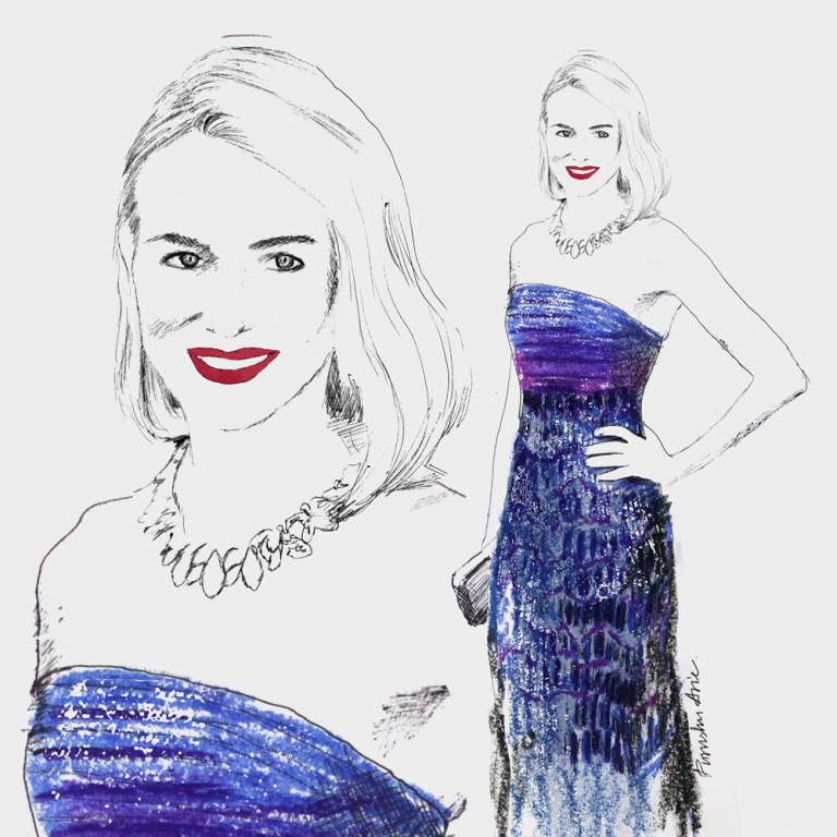 Fashion Illustration - Naomi Watts Oscars 2016