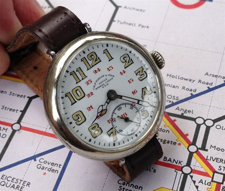 A rare Tissot Single Corp Trench Watch