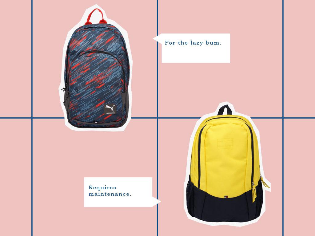 shoppers stop backpacks for men