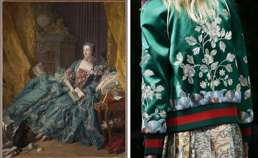 Portrait of Madam de Pompadour | Gucci SS2016