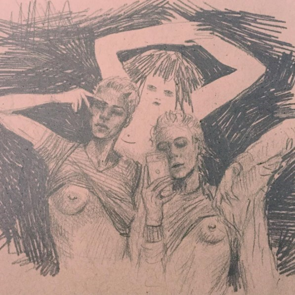 Tinder Nudes - Illustration by Frances Waite