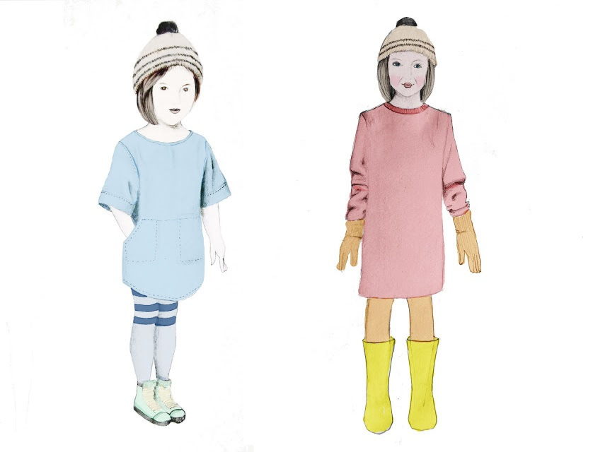 Kids Fashion Illustrations | © Purushu Arie