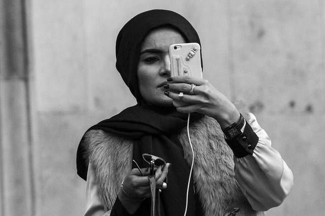 Arab Girl Iphone Selfie Muslim Girl Covent Garden