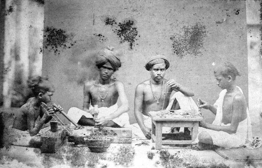Costume of jewellers in Madras, British India. Photo: Indulge Express