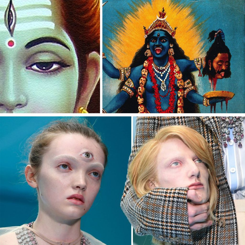 Possible Shiva-Shakthi inspiration at Gucci FW 2018?