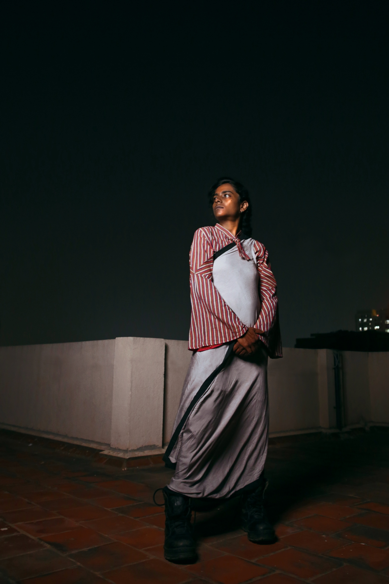Purushu Arie Beyond Binary Gender Neutral Fashion Shailaja Padindala Rajesh Thanikachalam Bell Sleeve Sari Blouse