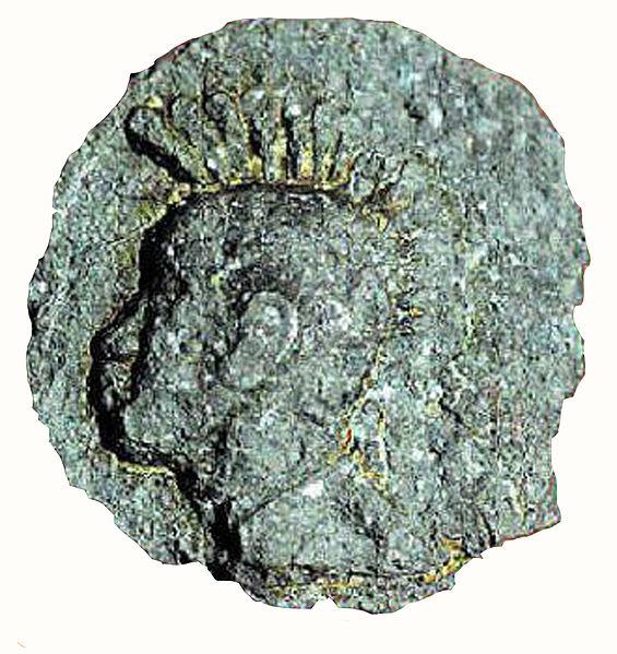 Chera coin Roman helmet