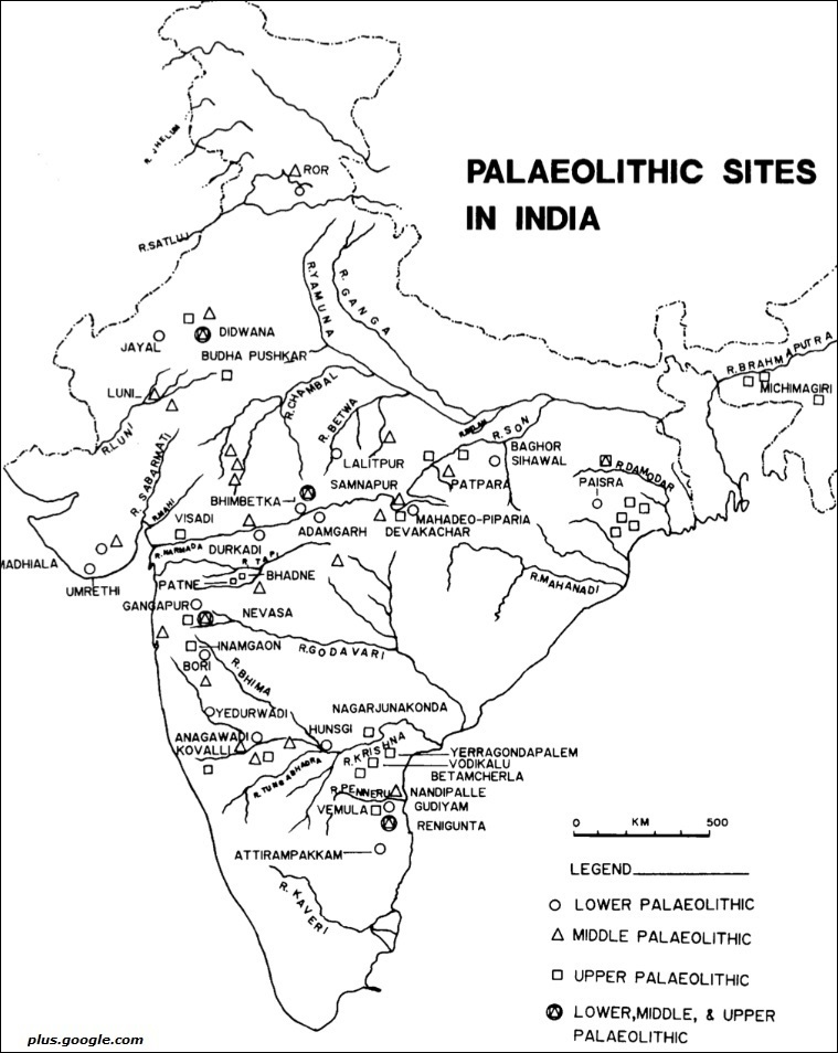 Palaeolithic sites in India
