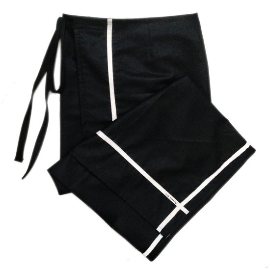 Black formal lungi with white border by Purushu Arie
