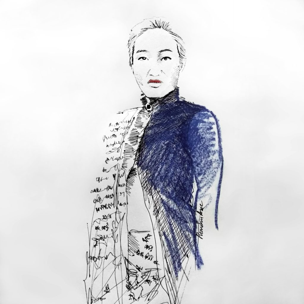 Aien Jamir fashion illustration by Purushu Arie