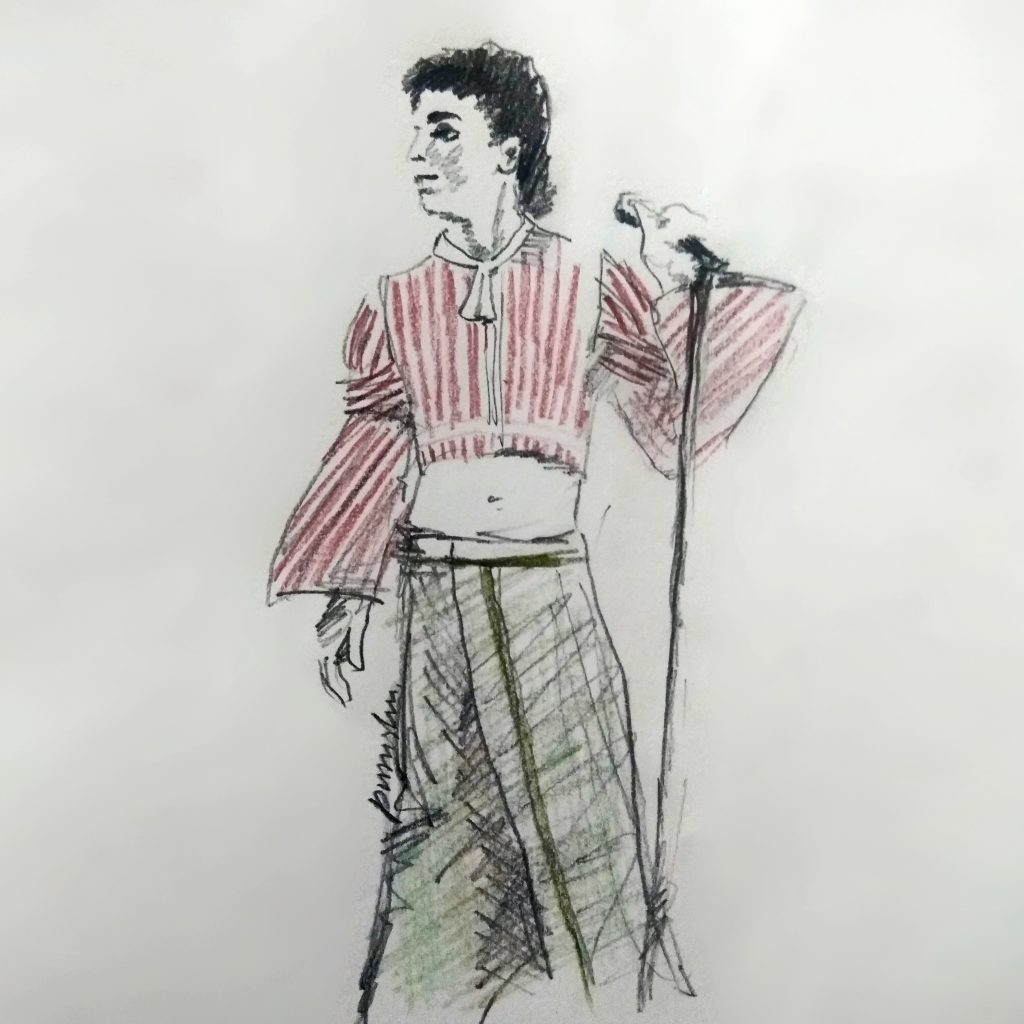 Prince fashion illustration by Purushu Arie
