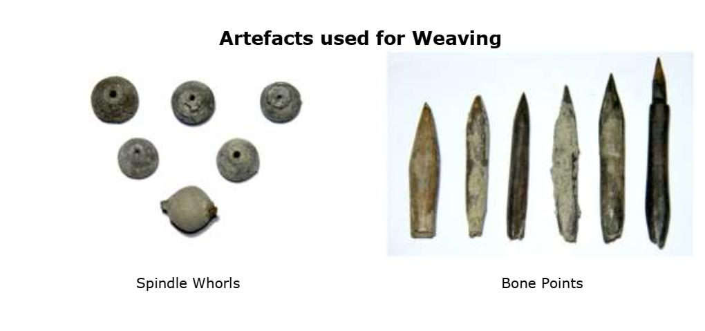 keeled weaving tools